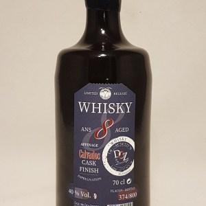 Whisky élevé en Normandie 8 ans Affinage en fût de Calvados 40°
