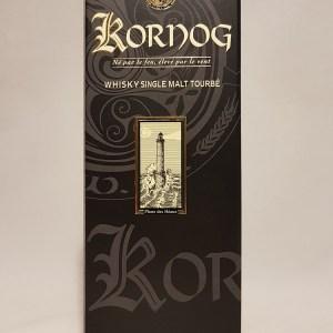 Whisky produit en Bretagne Single malt tourbé KORNOG ROC'H brut de fût année 19 63,1%