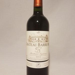 Château Barreyre Bordeaux supérieur rouge 2014