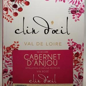 La Clotière  Cabernet d'anjou Rosé 5 litres