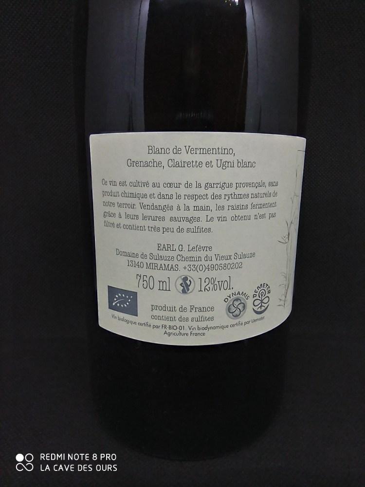 Galinette back label