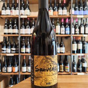 Sauvèdes red wine bottle