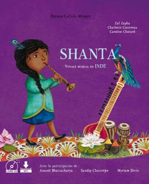 """Livre musical """"SHANTA voyage musical en Inde"""""""