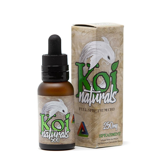 KOI Naturals CBD Full Spectrum Oil - Spearmint