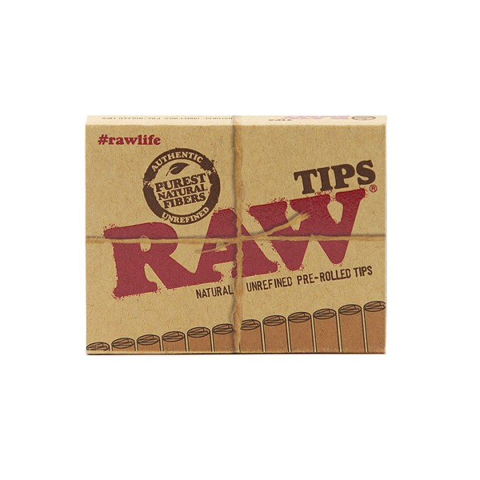 RAW Natural Unrefined Pre-Roll Filter Tips