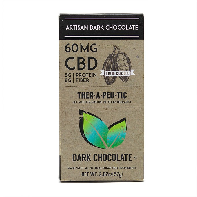 THER•A•PEU•TIC 60MG CBD Chocolate Bar (Assorted)