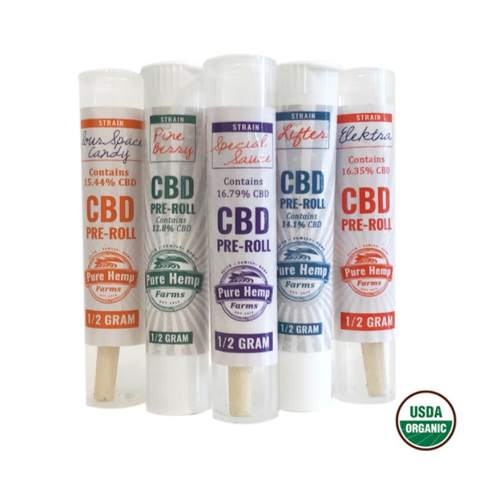 PURE HEMP FARMS CBD Hemp Pre-Roll