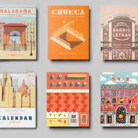 Mapas ilustrados de Lavapiés, El Born, Chueca, Malasaña...