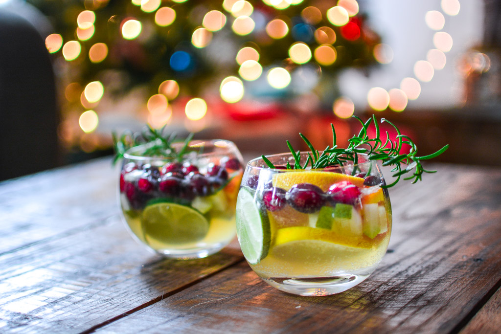 Christmas Sangria is filled with flavors of the season