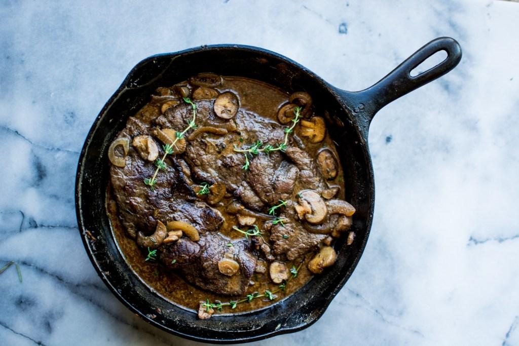 Mushroom Sauce London Broil with Starch Alternatives Sides - Recipe - @lacegraceblog1