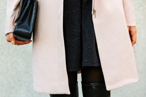 fashion blogger, petite fashion blog, fashionista, lace and locks, los angeles fashion blogger, h&m, pink coat, over the knee boots, affordable fashion, asian fashion blogger, streetstyle