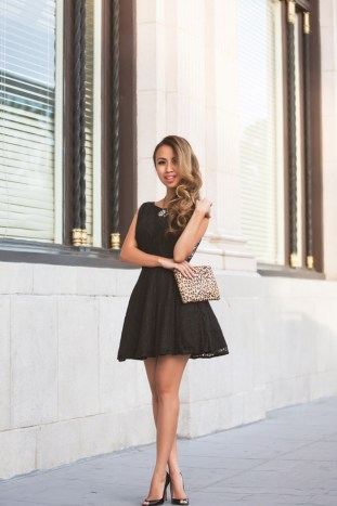 fashion blogger, petite fashion blog, fashionista, lace and locks, los angeles fashion blogger, black lace dress, windsor store dress, black christian louboutins, fit and flare lace dress, morning lavender boutique, morning lavender jewelry, affordable fashion