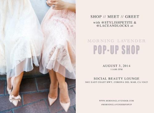 morning lavender pop-up shop, orange county fashion pop up, morning lavender boutique, women clothes pop up. social beauty lounge