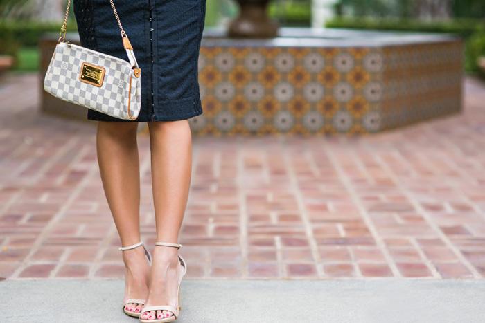 petite fashion blog, lace and locks, los angeles fashion blogger, anthropologie lace dress, anthropologie carissima sheath, style blog, spring fashion