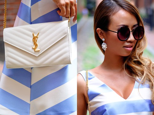 petite fashion blog, lace and locks, los angeles fashion blogger, stripe dress, fit and flare dress, topshop dress, fourth of july fashion
