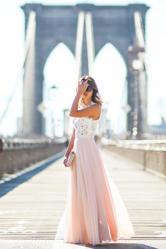 petite fashion blog, lace and locks, los angeles fashion blogger, pink maxi  skirt - Maxi Skirt Lace And Locks