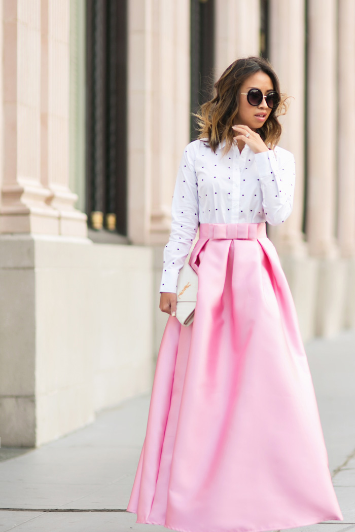 lace and locks petite fashion blogger pink maxi skirt valentine day ...