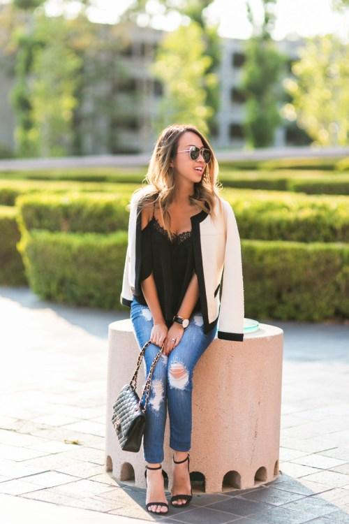 petite fashion blog, lace and locks, los angeles fashion blogger, oc fashion blogger, cold shoulder top, daniel wellington, high rise jeans, fall fashion, fall jeans
