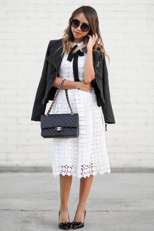 petite fashion blog, lace and locks, los angeles fashion blogger, oc fashion blogger, fall fashion, chicwish dress, crochet midi dress, wearing white