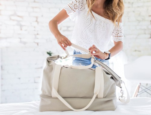 petite fashion blog, lace and locks, los angeles fashion blogger, oc fashion blogger, lo & sons catalina deluxe bag, weekend bag, traveling bag, labor day packing