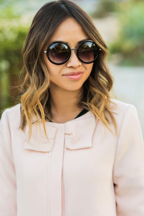 petite fashion blog, lace and locks, los angeles fashion blogger, oc fashion blogger, pink bow coat, lady coat, morning lavender coat, femnine fashion
