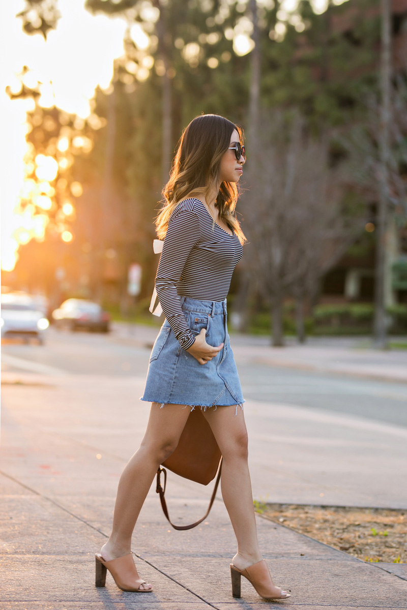 lace and locks, petite fashion blogger, spring trends, nordstrom spring, topshop bodysuit, cute mules