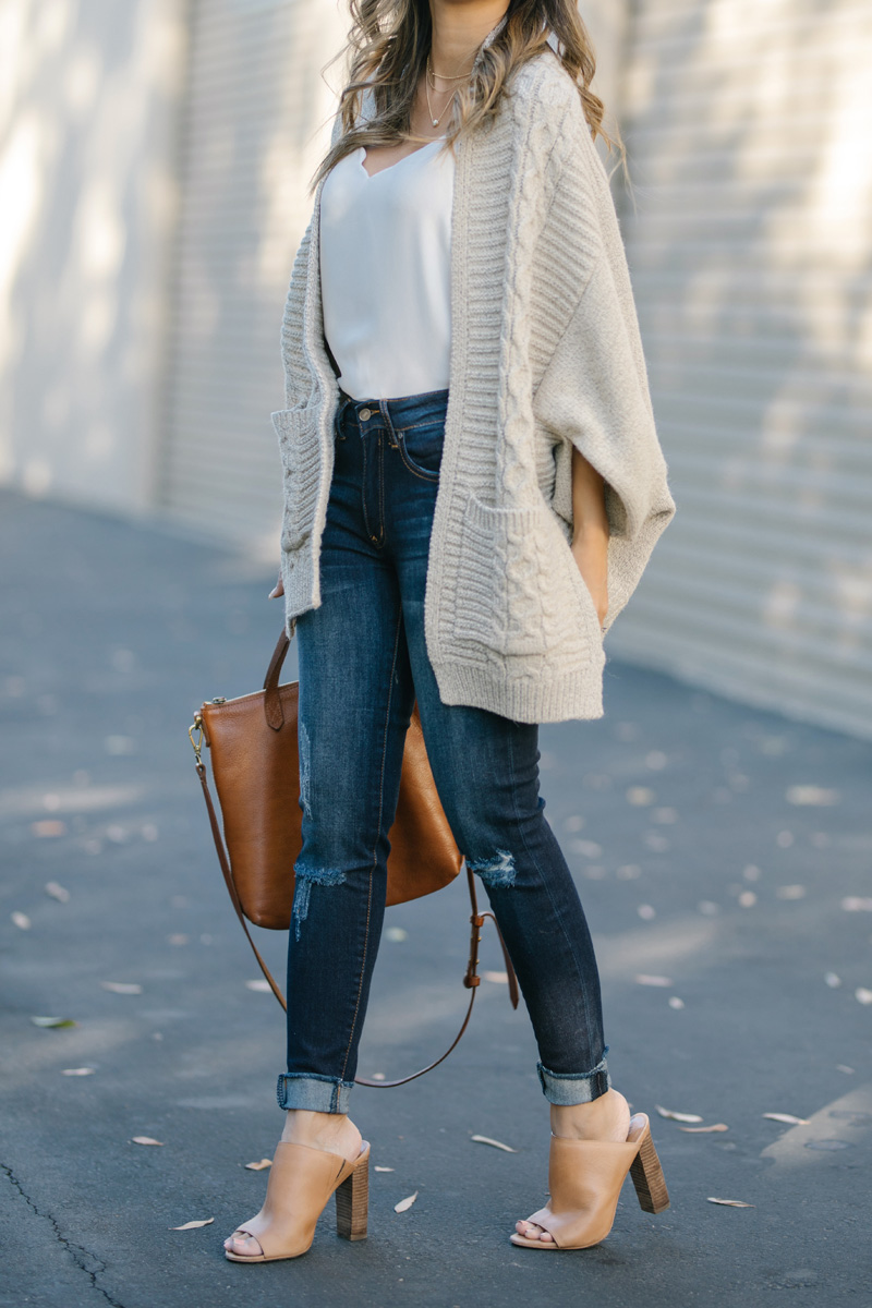 lace and locks petite fashion blogger fall poncho sweater – 02 ...
