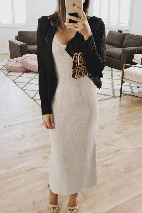 Nordstrom Anniversary Sale Leith Sleek Knit Midi Dress