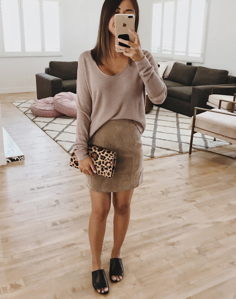 Nordstrom Anniversary Sale Suede Skirt