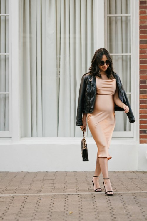maternity fashion, dressing the bump, fall fashion, lace and locks, petite fashion blogger, slip dress, holiday fashion