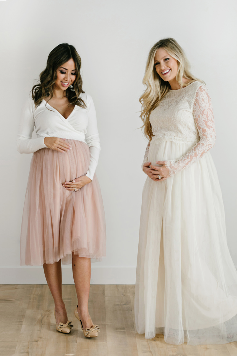 maternity fashion, bump friendly, morning lavender maternity, lace and locks, petite fashion blogger, tulle skirt maternity