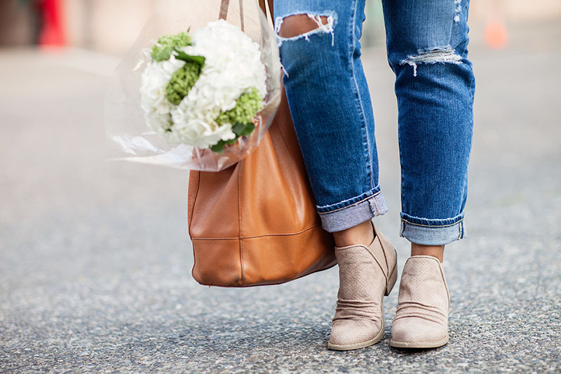 The Drewe ankle boot from Famous Footwear is stylish and meets all of my needs! Plus, the neutral color pretty much goes with everything.