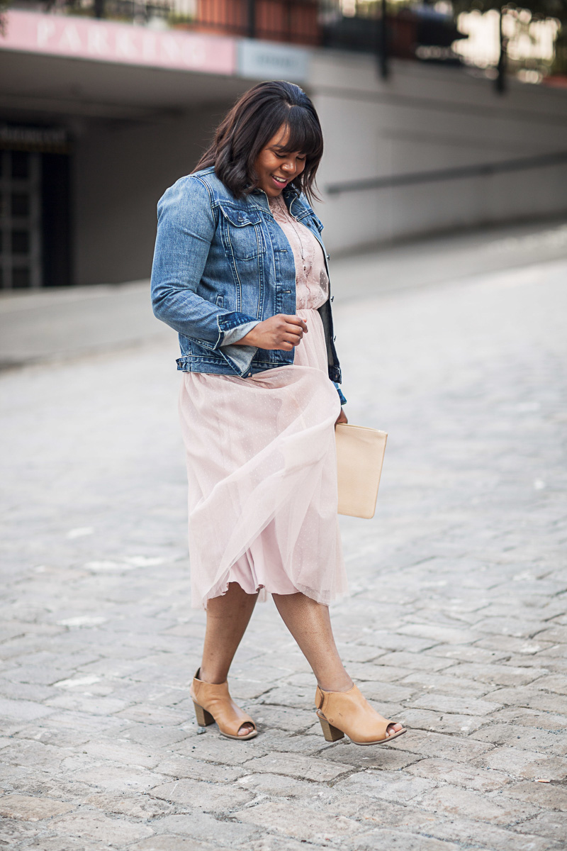 Celebrating a blogiversary is like gearing up for a new year. It's that time to reflect and begin thinking of new ideas and goals. Tulle dress, denim jacket.