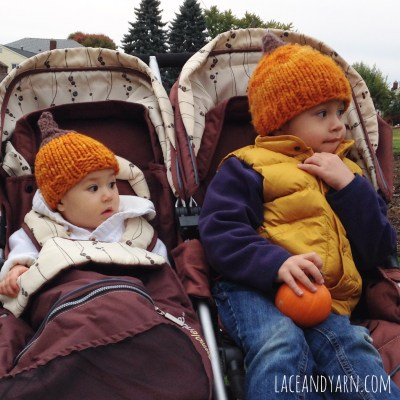 Pumpkin Hat Knit Pattern by laceandyarn.com