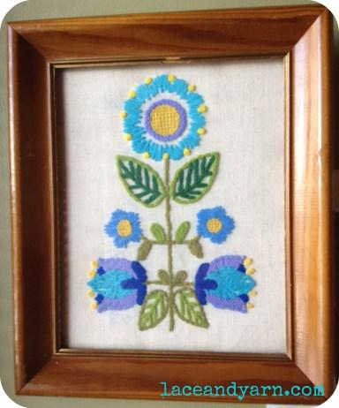 vintage flower embroidery