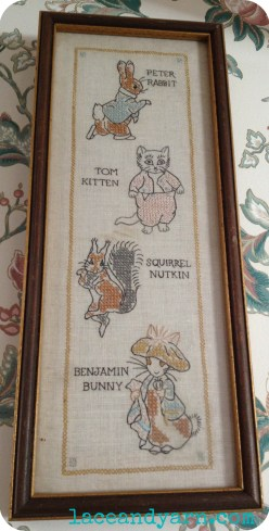 vintage peter rabbit embroidery