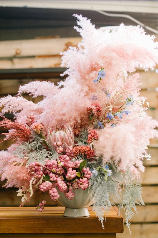 Dyed Wedding Flowers