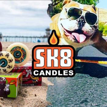 We share a collection of skateboard wheel candles from streetwear brand SK8 Candles now featured on the drop.com.