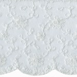 4 1/2'' Netting Lace Trim - White4 1/2'' Netting Lace Trim - White