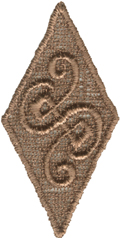 2 1/2'' by 1 1/4'' Brown Venice Diamond Applique2 1/2'' by 1 1/4'' Brown Venice Diamond Applique