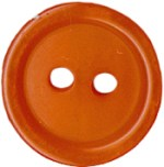Orange - 9/16'' - 2 Hole - ButtonOrange - 9/16'' - 2 Hole - Button