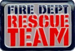 2'' by 1 3/8'' Fire Dept Rescue Team Vinyl Patch2'' by 1 3/8'' Fire Dept Rescue Team Vinyl Patch