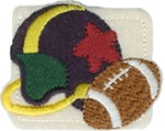 2 1/4'' by 1 3/4''  Iron On FootBall Helmet Applique2 1/4'' by 1 3/4''  Iron On FootBall Helmet Applique