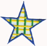 2 1/8'' - 5.4 cm - Iron On Star Applique2 1/8'' - 5.4 cm - Iron On Star Applique