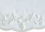 2 1/4'' White Netting Lace Trim2 1/4'' White Netting Lace Trim