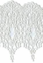 8 7/8'' White Venice Lace Trim8 7/8'' White Venice Lace Trim