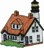 2 1/4'' by 2 1/2'' Lighthouse Applique2 1/4'' by 2 1/2'' Lighthouse Applique