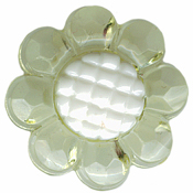 "Pale Yellow - 7/8"" - Clear Flower Shank Button"