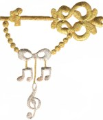4 3/8'' by 3 1/2'' Metallic Gold/Silver Musical Notes Appliques4 3/8'' by 3 1/2'' Metallic Gold/Silver Musical Notes Appliques