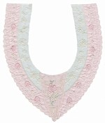 10 3/4'' by 12 1/2'' Satin & Netting Lace Applique - Pink, Ivory10 3/4'' by 12 1/2'' Satin & Netting Lace Applique - Pink, Ivory